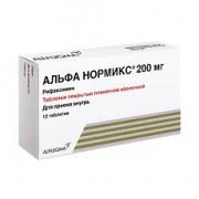 Альфа нормикс  таб. п/о 200мг №12