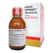 Альфа нормикс  фл. 100мг/5мл гран.д/сусп. 60мл
