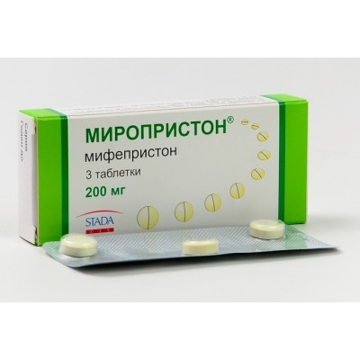 Миропристон таблетки 200 мг №3