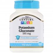 21st Century, 21 Век Глюконат калия 595 мг, 110 таблеток