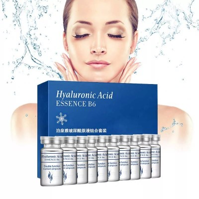 BioAqua Hyaluronic Acid Essence B6 Набор сывороток для лица с гиалуроновой кислотой, 5 мл (10 шт.)