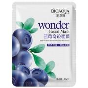 BioAqua Увлажняющая тканевая маска для лица с экстрактом черники Wonder